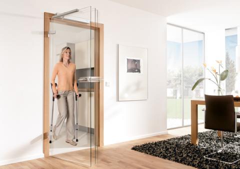 Автоматический привод распашных дверей DORMA Porteo для инвалидов